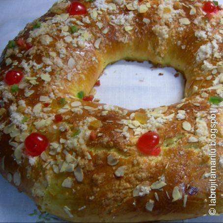 Roscón De Reyes Casero Sin Relleno Receta Roscon De Reyes Casero Roscón De Reyes Recetas De Comida