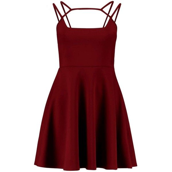 Skater Dresses ($29) ❤ liked on Polyvore featuring dresses, print skater dress, red pattern dress, color block skater dress, colorblock dress and skater dress