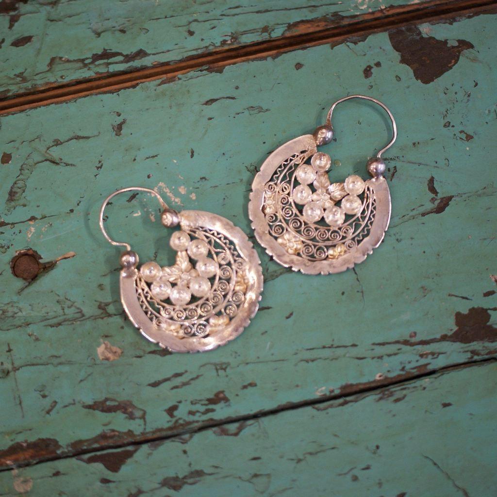 63888473c Silver Jerez Arracadas, Grande - Zinnia Folk Arts | jewelry | Silver ...