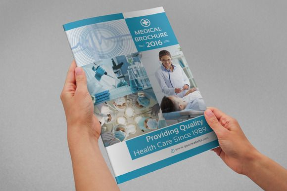 Medical Bifold Brochure by Creative Design on @creativemarket