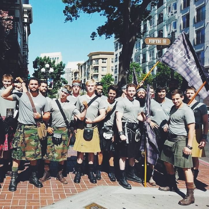 Nice group shot....the Kilted are taking San Diego by storm.....love it!
