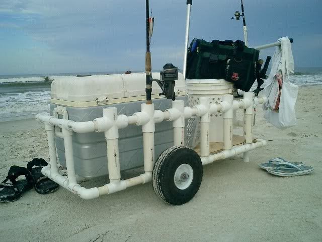 Pvc beach carts fishing forum reports info view for Pvc fishing cart