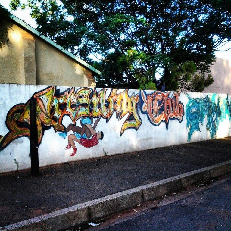 Graffiti in a small Kalahari town