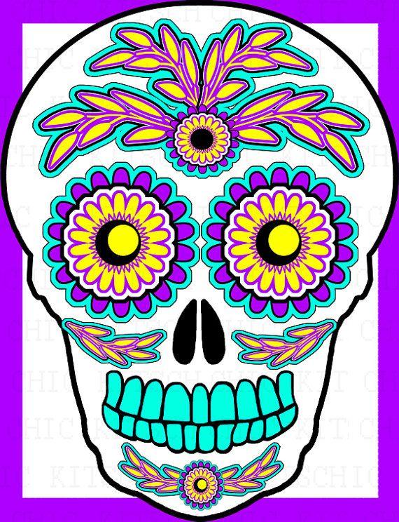 sugar skull clip art clipart best sugar skulls pinterest art rh pinterest co uk sugar skull tattoo clipart sugar skull clipart