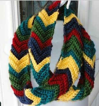 Free easy to crochet ripple infinity scarf pattern crochet ripple free easy to crochet ripple infinity scarf pattern dt1010fo
