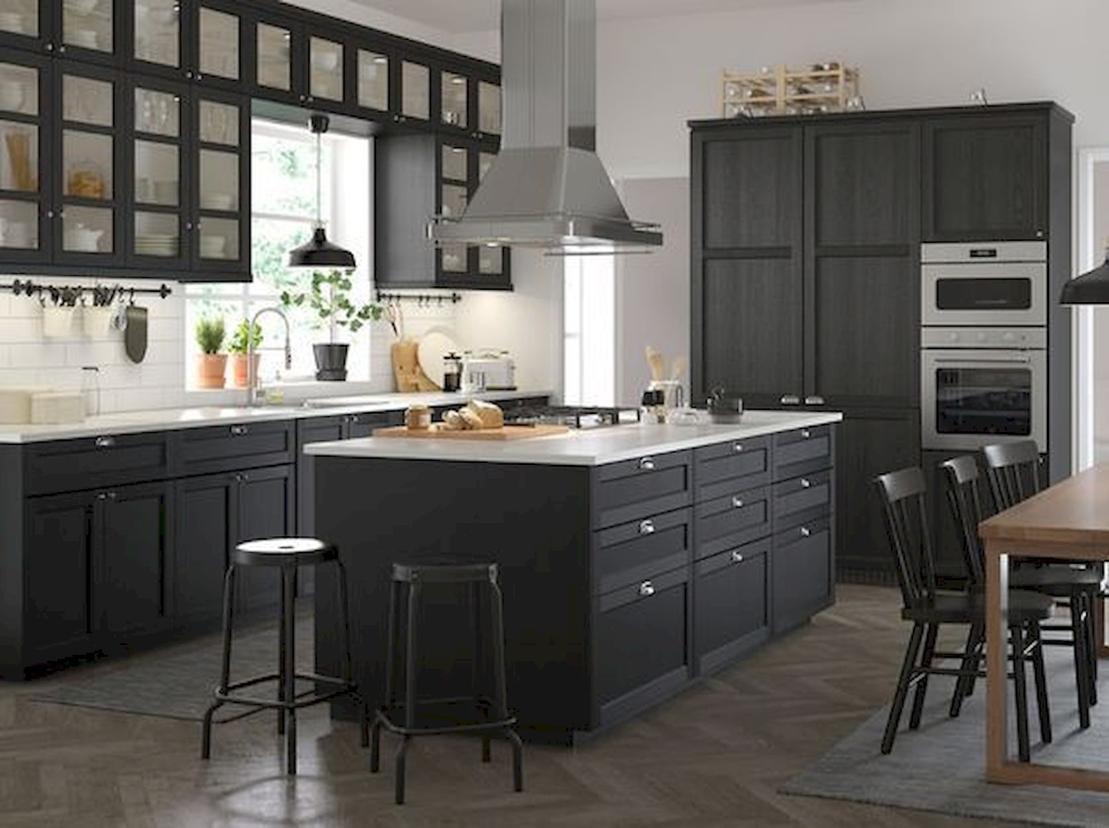 30 Amazing Black Kitchen Ideas You Will Love Ikea Kitchen Inspiration Black Ikea Kitchen Kitchen Design