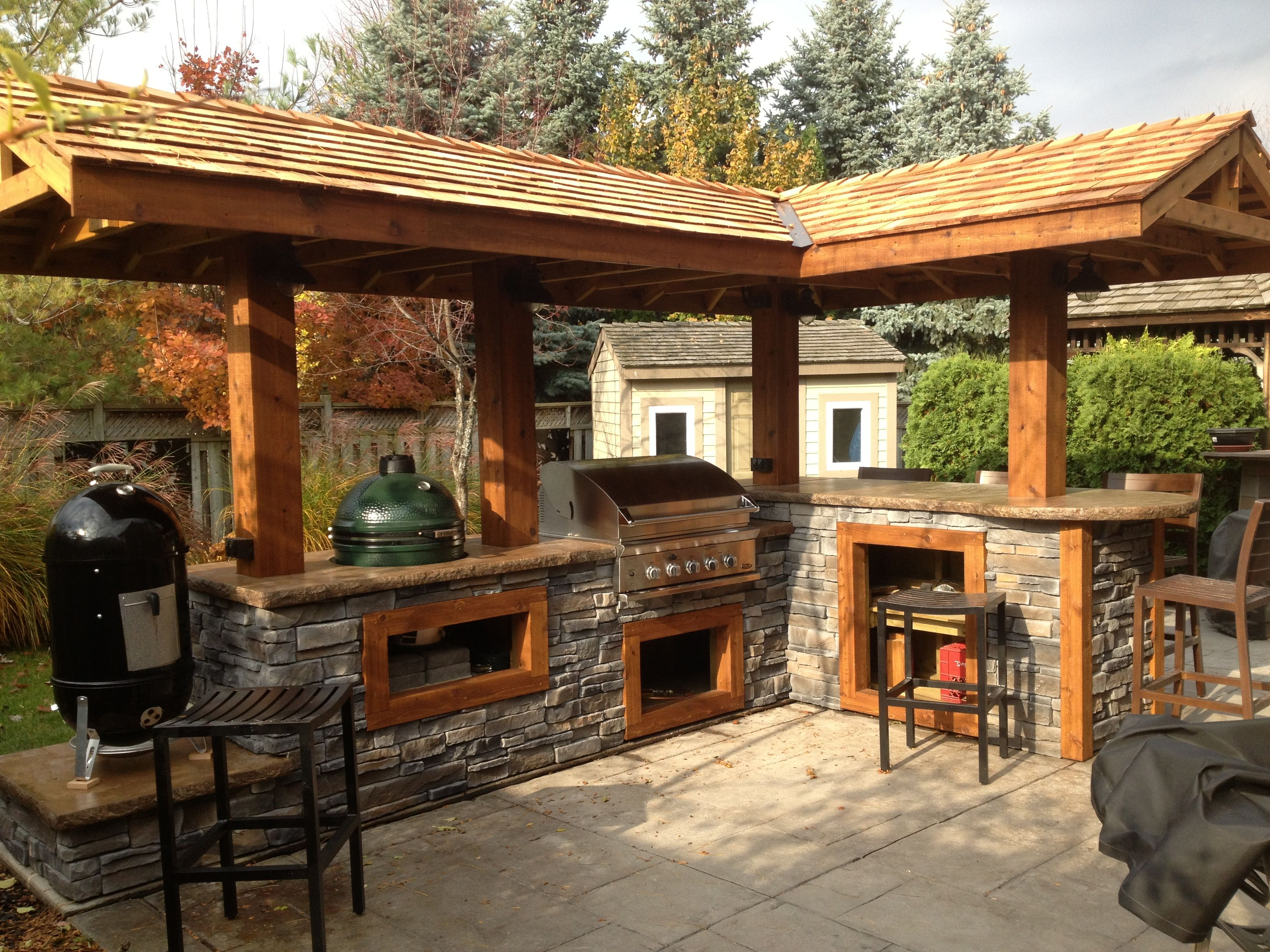 Absolute Post Quattro Post Out Door Kitchen Backyard Pavilion Outdoor Bbq Kitchen Outdoor Kitchen Island