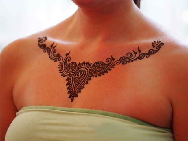 Henna Tattoo Neck Designs: Cool Images Of Neck Mehndi Design For Wedding
