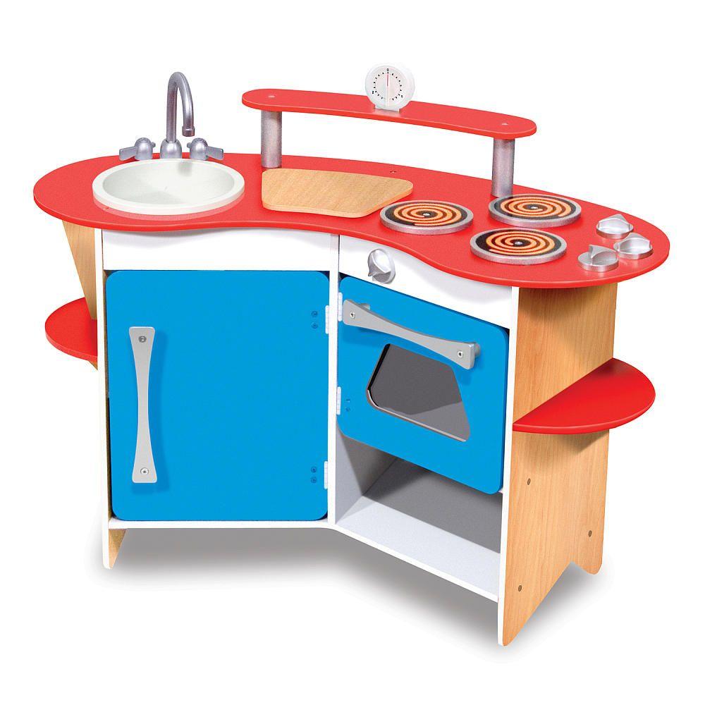 Melissa & Doug Cooks Corner Wooden Kitchen - Melissa & Doug - Toys ...