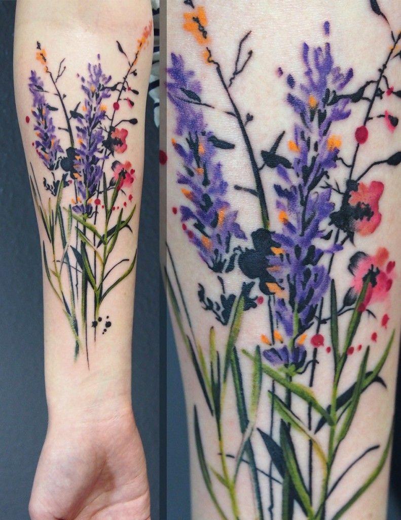 Lavenderwildflowers Tatuajes Pinterest Tattoos Tattoo