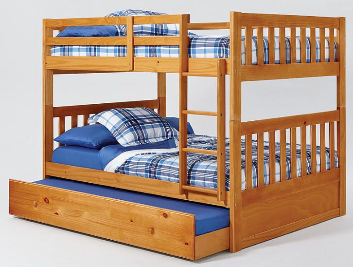 Perth Full Over Queen Bunk Bed With Trundle And Staircase