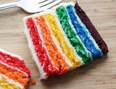 easy rainbow cake from scratch recipe recipes pinterest