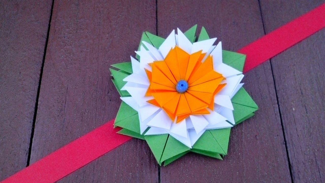 Simple origami flower for rakhi bracelet greeting card home decor simple origami flower for rakhi bracelet greeting card home decor paper republic day crafts mightylinksfo