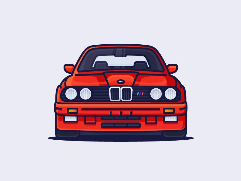 BMW CAR E30 VINTAGE POSTER PRINT ART WALL LARGE IMAGE GIANT