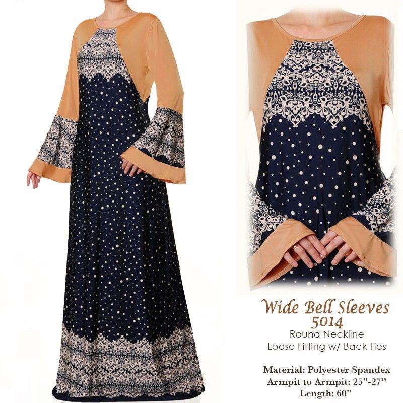 dfb74cc333b 5014 Wide Bell Sleeves Abaya Dress - Plus Size 3X 4X US 40 FREE SHIPPING