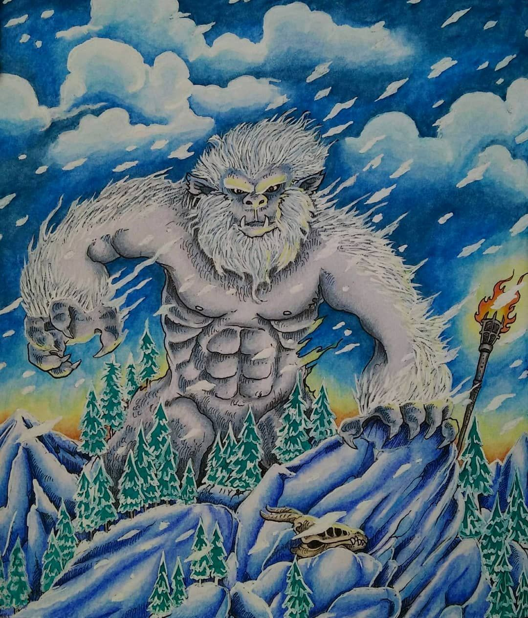 My Formidable Yeti From Mythomorphia By Kerbyrosanes I M Sure He Is Good Guy But He Is Angry Now Because He S Cold And T Coloring Books Artwork Art