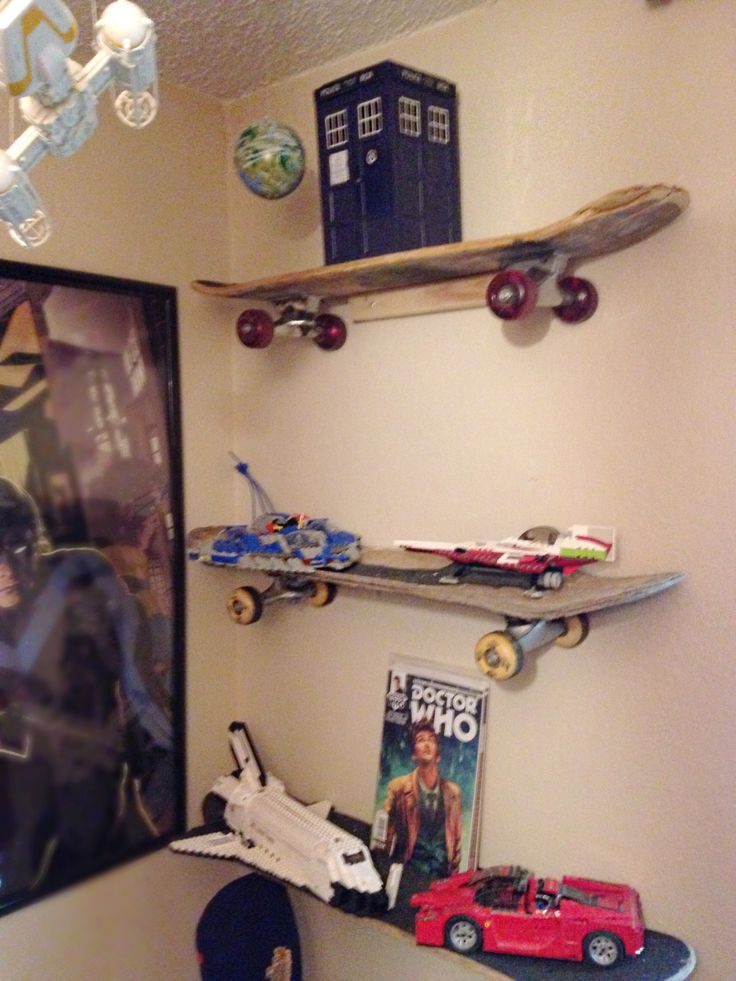 Upcycled Skateboard Shelves   Pick Up Old, Used Skateboards At The Local  Thrift Store