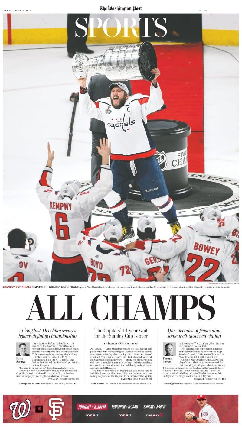 13cc70c16 Capitals  Stanley Cup run as told by The Post s front page - The Washington  Post