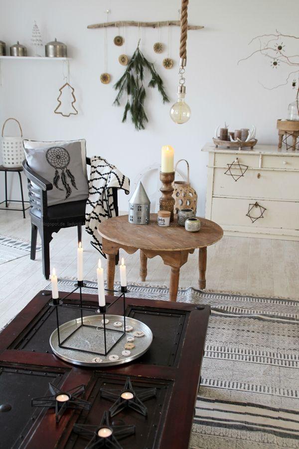 Weihnachts-Deko-Ideen für Küche und Wohnzimmer Scandi-Bohostyle - wohnzimmer deko ideen