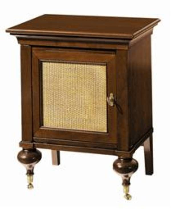 Indochine Bedside Cabinet w Cane Grange Furniture Inc