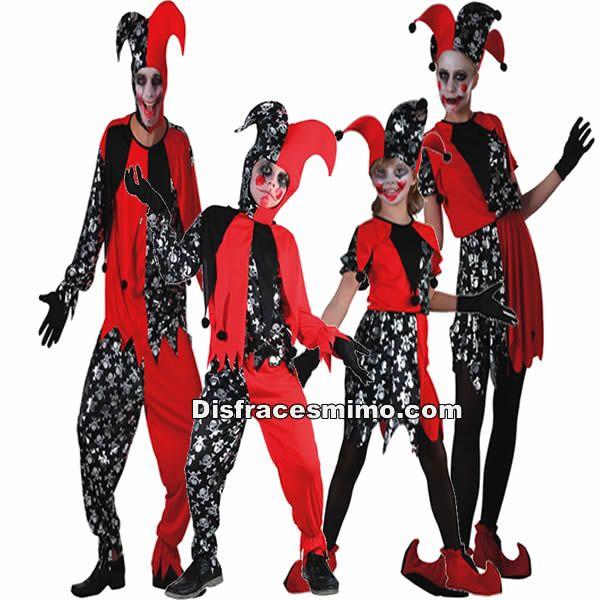 tu mejor disfraz de grupo y familia de bufones con estos terrorfico disfraces de bufnes