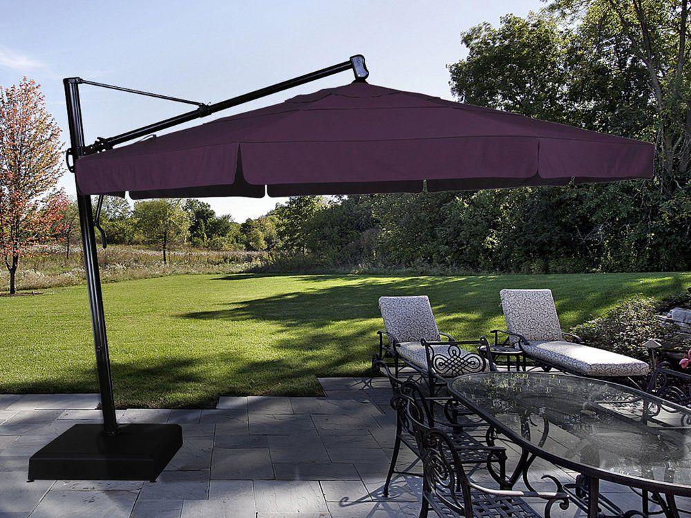 Treasure Garden Cantilever 13 Foot Wide Crank Lift Tilt U0026 Lock Umbrella |  AKZ13