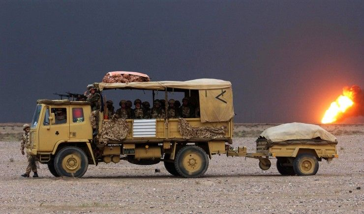 DAF 4 Ton Truck during the Gulf War 1991
