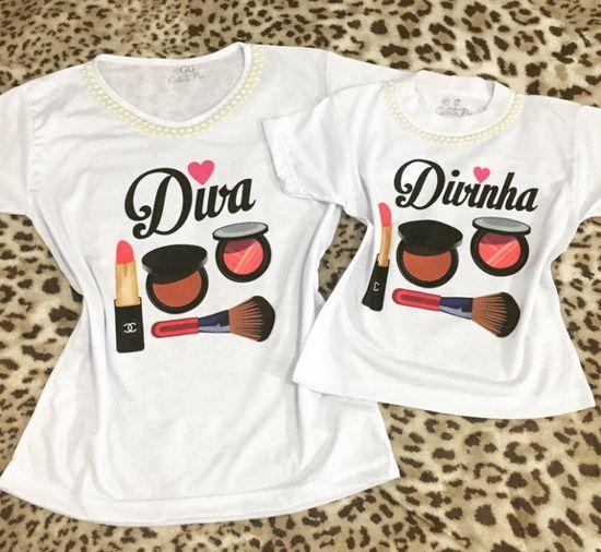 Camisetas com frases divertidas e criativas para mãe e filha ... f776344f13676