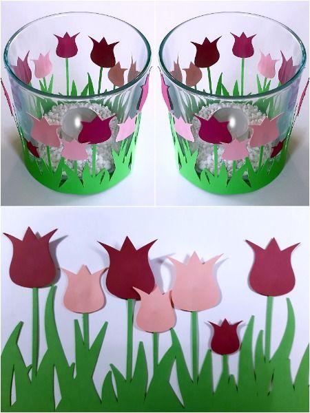 Tulpen als Bordüre #dekofrühling