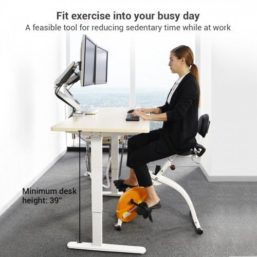 Loctek U1 Under Desk Bike Upright Stationary Foldable Exercise