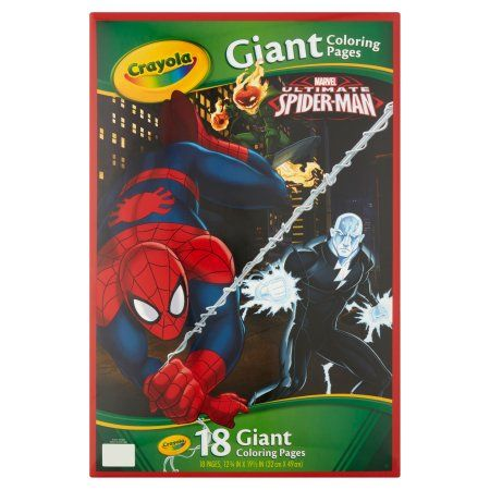 Crayola Giant Coloring Pages Featuring Spiderman 18 Pages Walmart Com Spiderman Coloring Crayola Coloring Pages Coloring Pages