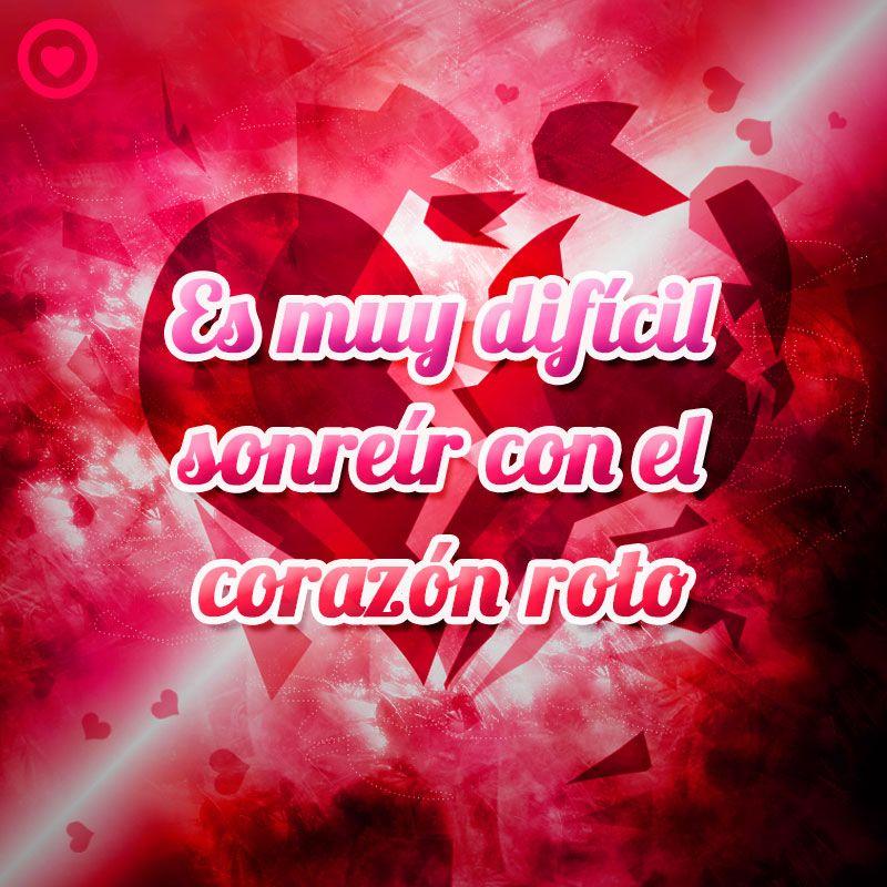 Frase Triste De Amor Con Imagen De Corazón Roto Corazon