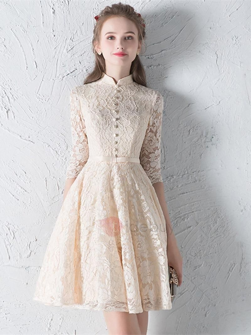 BFCM #CyberMonday #TideBuy - #TideBuy Simple A-Line High Neck ... on cheap flower girl dress, cheap hair, cheap black dress, cheap holiday dress, cheap jeans, cheap renaissance dress, cheap club dress, cheap first communion dress, cheap gold dress, cheap bridesmaid dress, cheap evening gowns dress, cheap clothing, cheap maid of honor dress, cheap wedding, cheap pageant dress, cheap formal dress, cheap casual dress, cheap fashion, cheap maxi dress, cheap mother of groom dress,