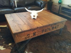 Big Daddy On Anvil Iron Legs Industrial Chic Coffee Tables