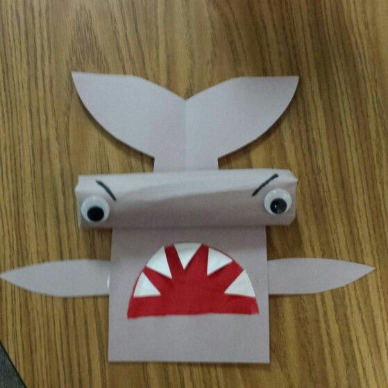 Crafts Made From Paper Towel Rolls: Hammerhead Shark...made With Paper Towel Roll For 3D