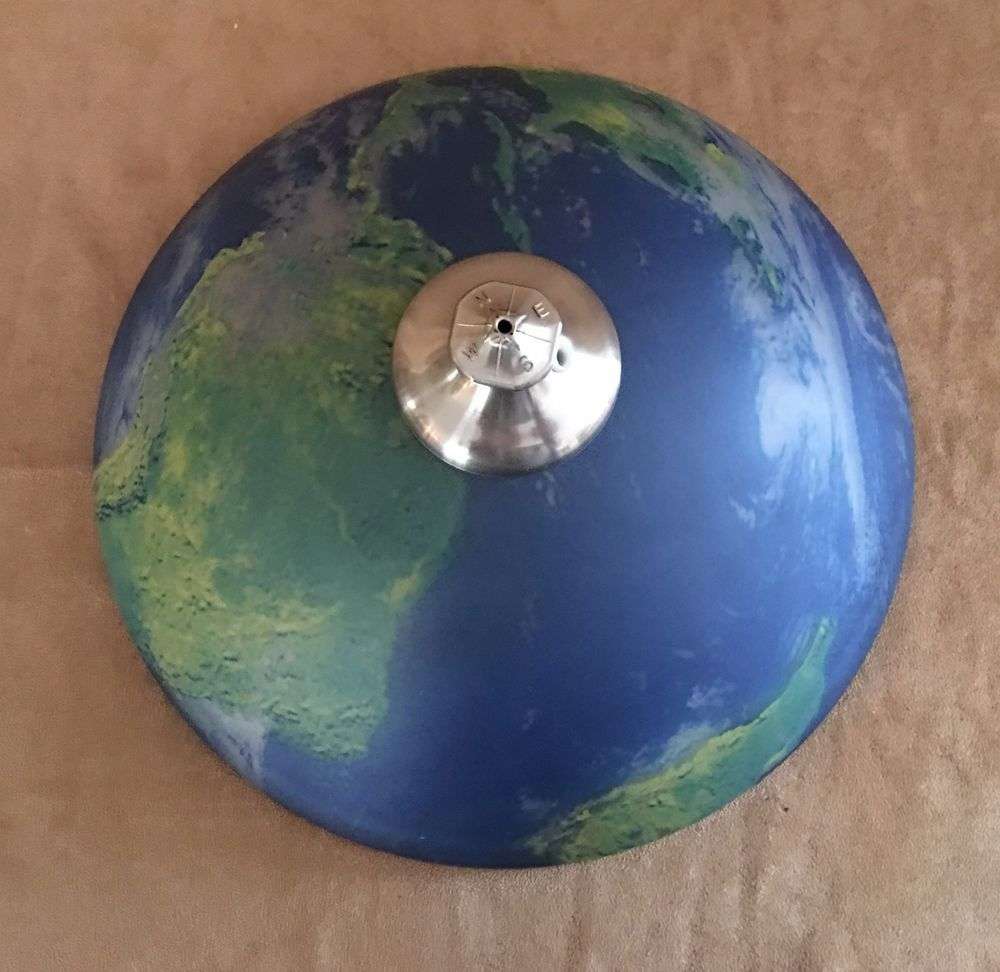Glass Ceiling Lamp Shade World Globe Map Light Fixture Cover Blue