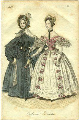 vestimenta 1800 francia - Buscar con Google