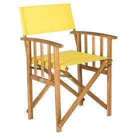 Byron Acacia Arm Chair In Yellow Set Of 2 Outdoor