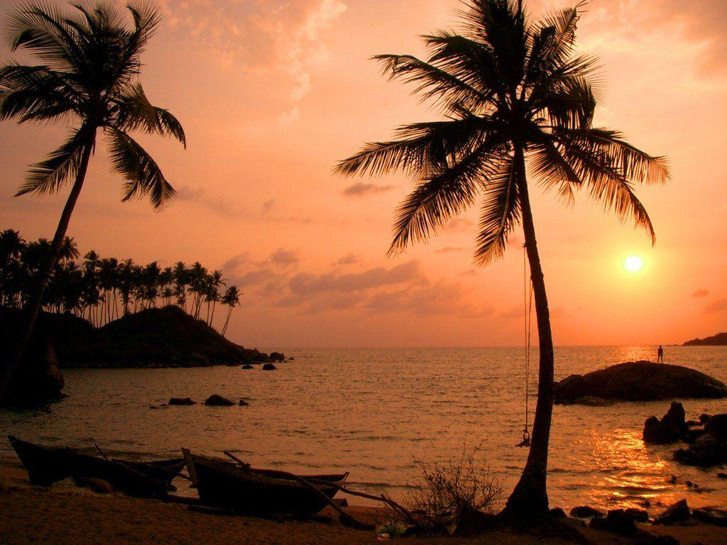 Sunset at Palolem Beach. Looks like a beautiful place.