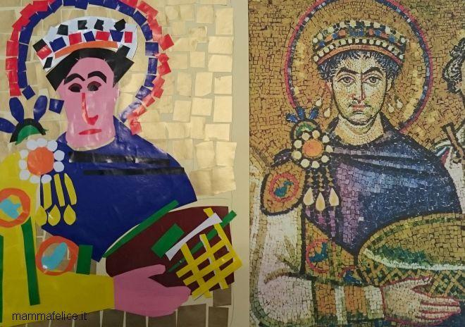 Collage Bambini ~ Arte per bambini mosaico bizantino e collage esperimenti