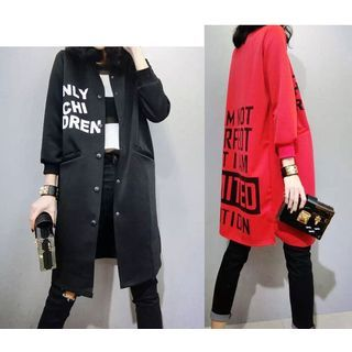 Buy trendedge Lettering Long Baseball Jacket at YesStyle.com ...