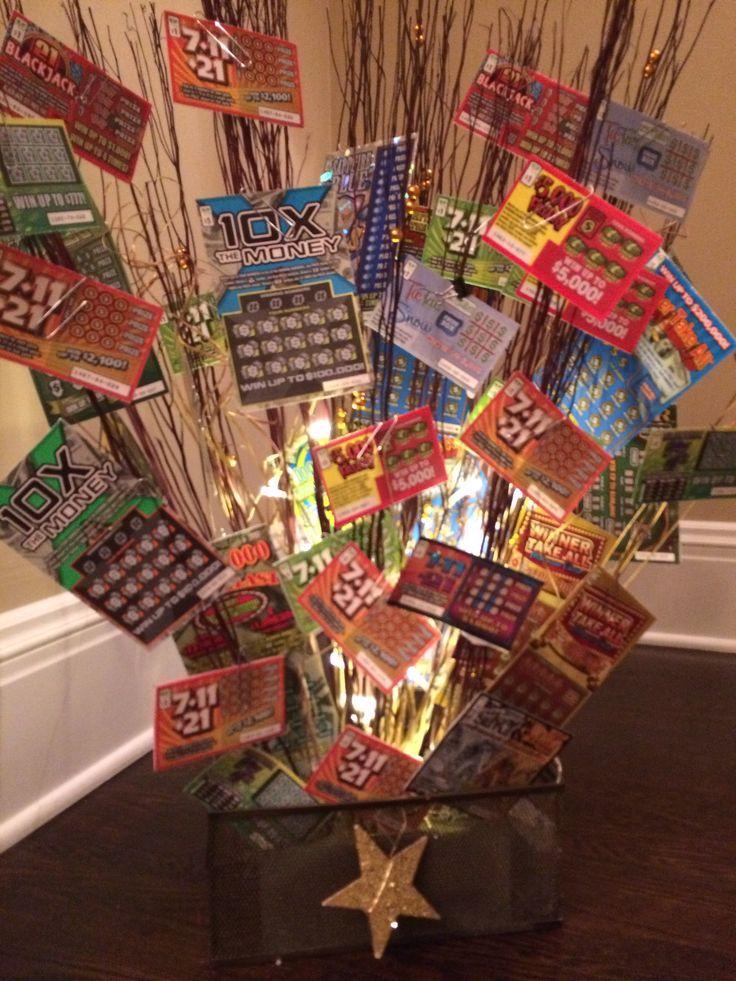 , Lottery Tree, Raffle Basket, Fundraiser Idea, Lottery ...