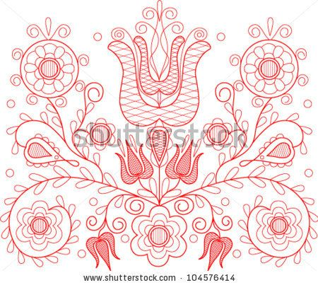 Vector illustration of beautiful Transylvanian hungarian folk motif ...