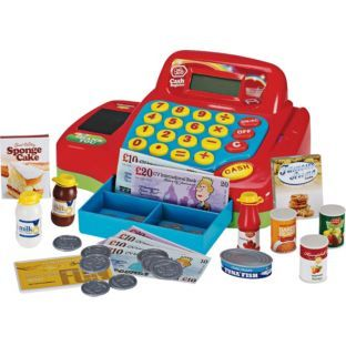 Chad Valley Cash Register with Accessories.