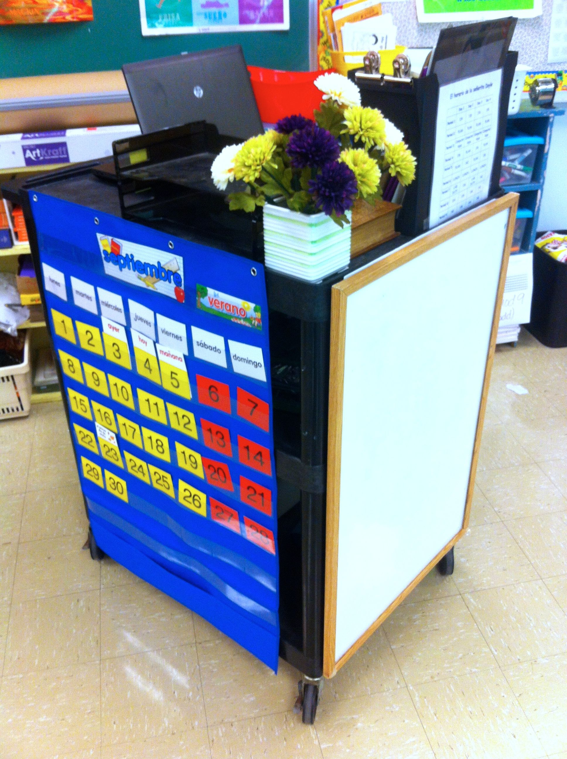 Modular Classroom Moving ~ I m a traveling teacher this year and found cart to