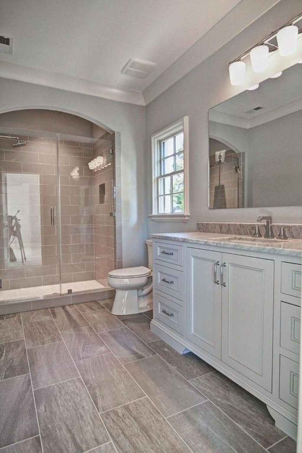 32 Best Small Bathroom Design Ideas And Decorations For 2020: 32 Awesome Farmhouse Bathroom Tile Floor Decor Ideas In