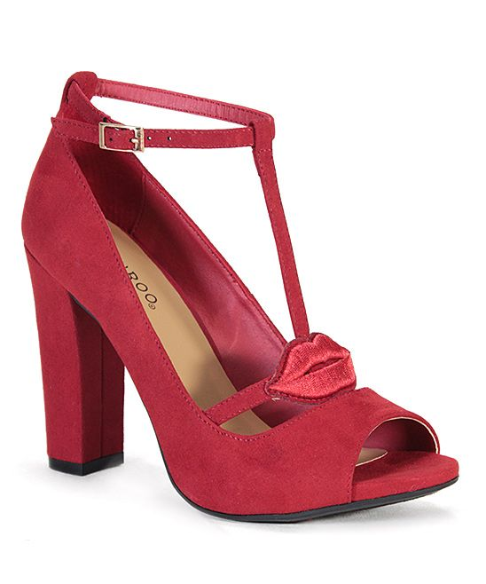 acc8aeef1830cc Red Limelight Ankle-Strap Pump