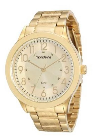 5a83e815e64 76547LPMVDE1 Relógio Feminino Mondaine Analógico Dourado