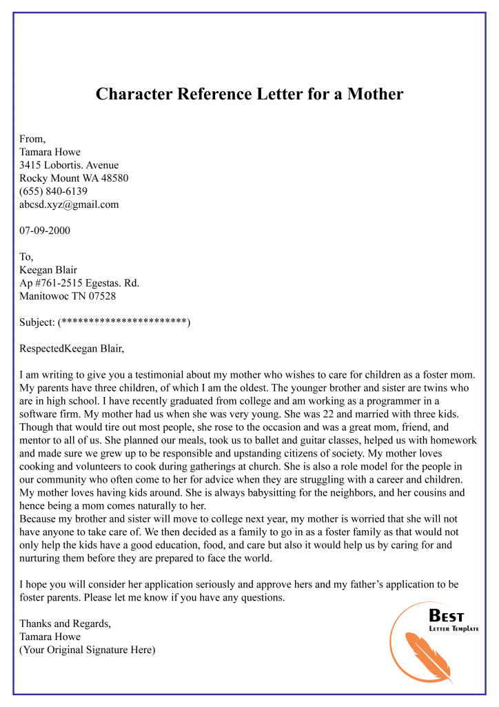 Character Reference Letter From Mother To Judge from i.pinimg.com