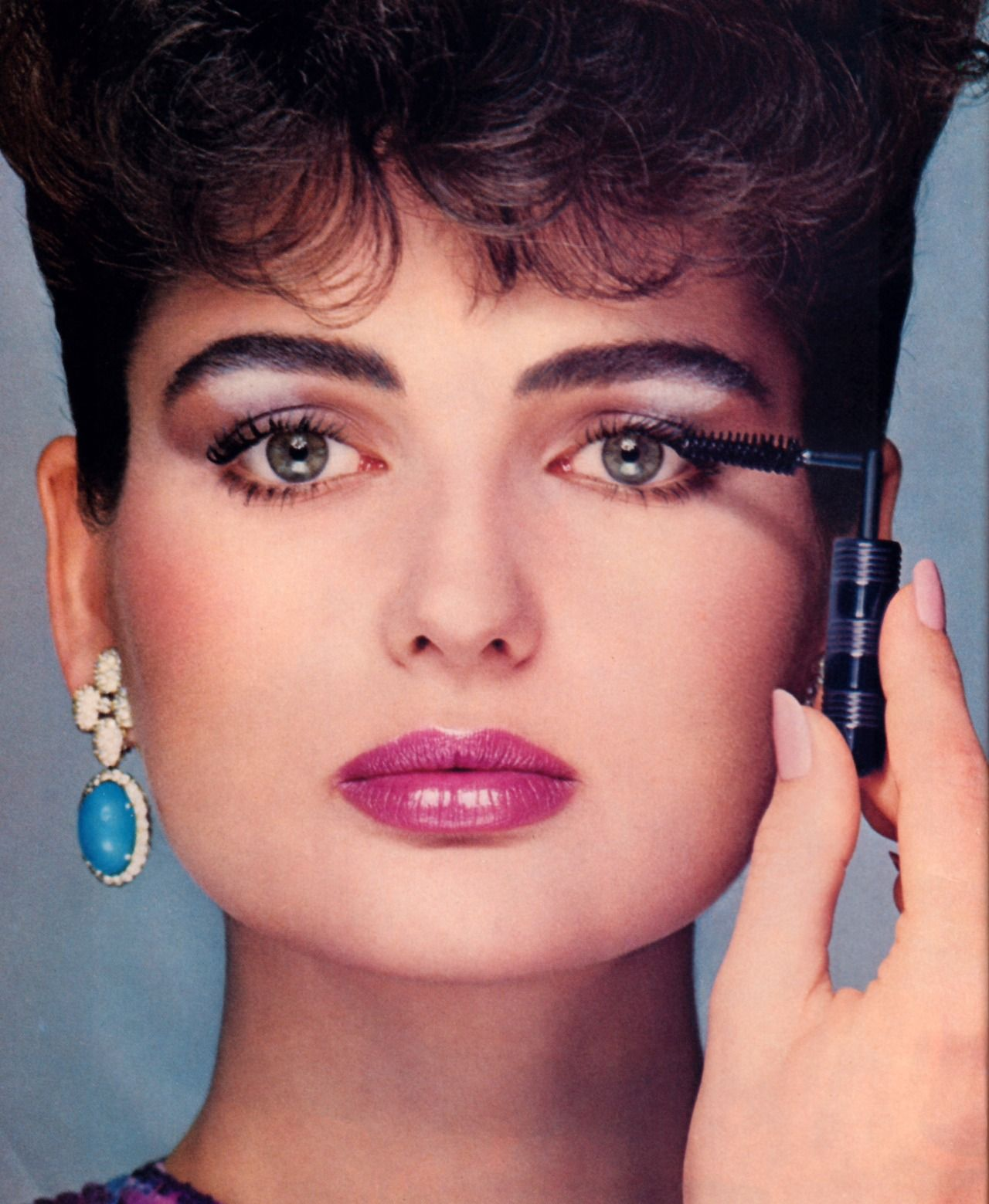 Revlon, American Vogue, February 1983. 1980s makeup